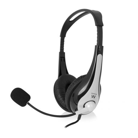 Stereo headset with microphone and volume control